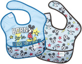 Bumkins Mickey Mouse 'Born to be Awesome' SuperBib - Set of Two