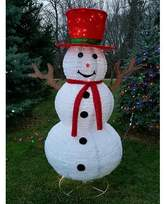 The Holiday Aisle Christmas Pre Lit LED Lighted Snowman with Red Scarf Lighted Display