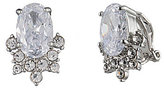 Carolee Imperial Sky Oval Cluster Clip-On Earrings