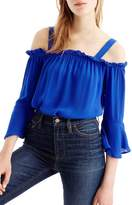 J.Crew J. Crew Cold Shoulder Bell Sleeve Top (Regular & Petite)