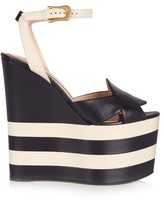 Gucci Sally leather wedge sandals