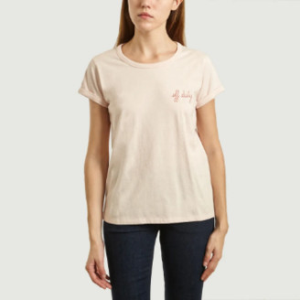 Maison Labiche Light Pink Off Duty Embroidered T Shirt - xs