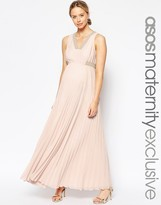 Asos Pleated Maxi Dress