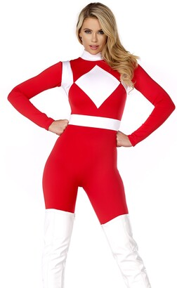Forplay Women's Forceful Action Figure Catsuit with Belt