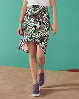 Ted Baker Floral print crossover front skirt