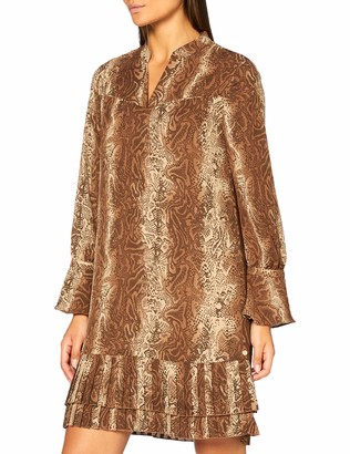 Scotch & Soda Women's Shorter Length Dress with Pleated Hem Casual