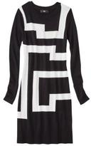 Ultrasoft Mossimo® Women's Geometric Print Sweater Dress - Ebony/White Sand