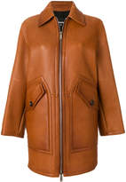 DSQUARED2 zipped leather coat