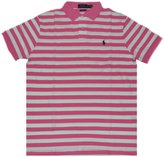 Polo Ralph Lauren Men's Striped Polo Shirt Custom Fit (L, /White)