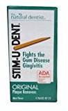 Johnson & Johnson Stim-U-Dent Plaque Removers, Mint Flavor, 4 Packs of 25 (100 Picks)