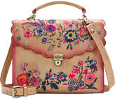 Patricia Nash Prairie Rose Embroidery Simona Small Satchel