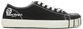 Maison Margiela Black Canvas Pollock Tabi Sneakers