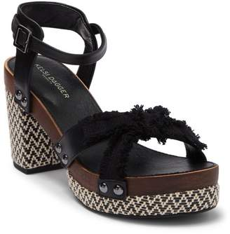 Kelsi Dagger Brooklyn Flora Leather Platform Sandal