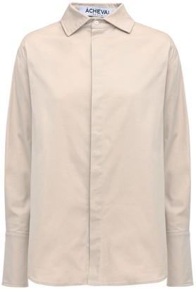 ÀCHEVAL PAMPA Hombre Cotton Satin Shirt