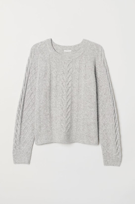 H&M Cable-knit Sweater - Gray