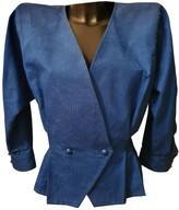 Ungaro Blue Cotton Jacket for Women Vintage