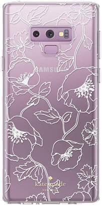 Kate Spade Galaxy Note9 Silhouette Floral Protective Phone Case
