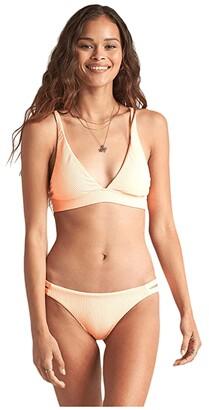 Billabong Under the Sun High Point Tri Top (Neon Peach) Women's Swimwear