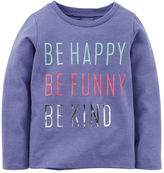 Carter's Long-Sleeve Be Happy Graphic Tee