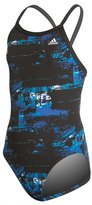 adidas Girls' Elemental Raw Vortex Back One Piece Swimsuit 8150204