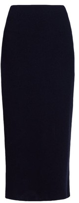 The Row Stratski Wool-blend Midi Skirt - Womens - Navy