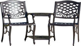 Asstd National Brand Sandestin Outdoor Cast Aluminum Double Chair