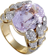 Heritage 18K Two-Tone 18.05 Ct. Tw. Diamond & Kunzite Ring