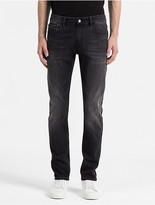 Calvin Klein Jeans Slim Straight Faded Black Jeans