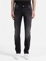 Calvin Klein Slim Straight Faded Black Jeans