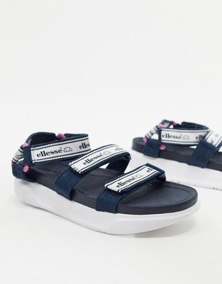 Ellesse denso logo sporty sandals in navy