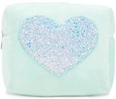 Forever 21 Heart Fleece Makeup Bag