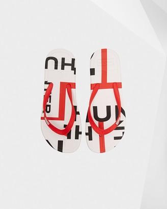 Hunter Women's Original Exploded Logo Flip Flops