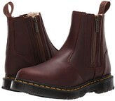 Dr. Martens 2976 Alyson DM'S Wintergrip (Dark Brown Snowplow Waterproof/Mustang Waxy Suede Waterproof) Women's Boots