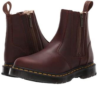 Dr. Martens 2976 Alyson DM'S Wintergrip (Dark Brown Snowplow Waterproof/Mustang Waxy Suede Waterproof) Women's Boots
