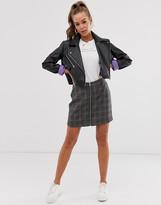 Brave Soul bailey mini skirt in check