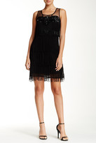 Gracia Jewel & Fringe Detail Sleeveless Dress
