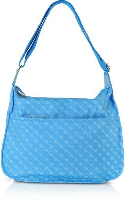 Gherardini Petrol Blue Signature Fabric Softy Shoulder Bag
