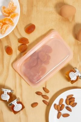 Stasher Papaya Reusable Silicone Snack Bag - Orange ALL at Urban Outfitters