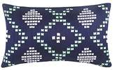 Blissliving Home 14186012X020NVY Dillon 12-Inch by 20-Inch pillow, Navy