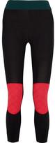 NO KA 'OI No Ka'Oi - Kuke Paneled Stretch-jersey Leggings - Black