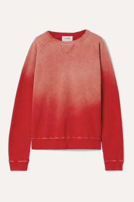 RE/DONE 80s Cotton-terry Sweatshirt - Red
