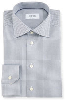 Eton Contemporary-Fit Geo-Print Dress Shirt, White/Navy