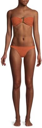 Hunza G Gloria Ring Detail Bandeau 2-Piece Bikini Set