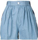Julien David contrast panel shorts - women - Cotton - S