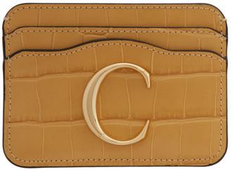 Chloé Yellow Croc C Card Holder