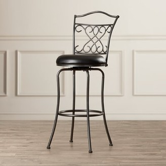"Fleur De Lis Living Apatow Bar & Counter Swivel Stool Seat Height: Bar Stool (30"" Seat Height)"