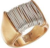 Robert Lee Morris Two-Tone Wire Wrap Ring Ring