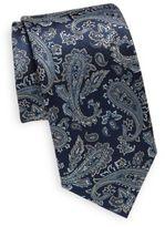 Saint Laurent Paisley Silk Tie