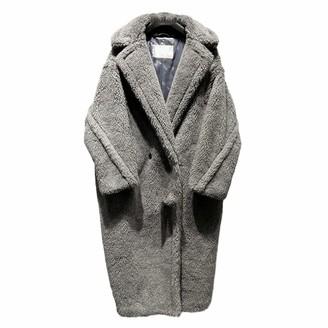 NKJGFV Women's Coat Teddy Bear Faux Fur Coat Alpaca Jackets Women Wool Coat Loose Winter Warm Thicken Coat