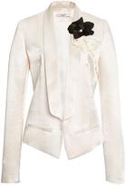 Lanvin Shawl Collar Short Satin Jacket
